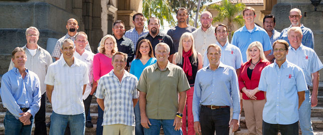The Team at Young Construction at the Santa Barbara Courthouse